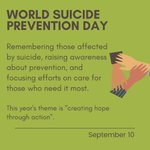 Image for the Tweet beginning: #WorldSuicidePreventionDay •  ✏️ Written by: National