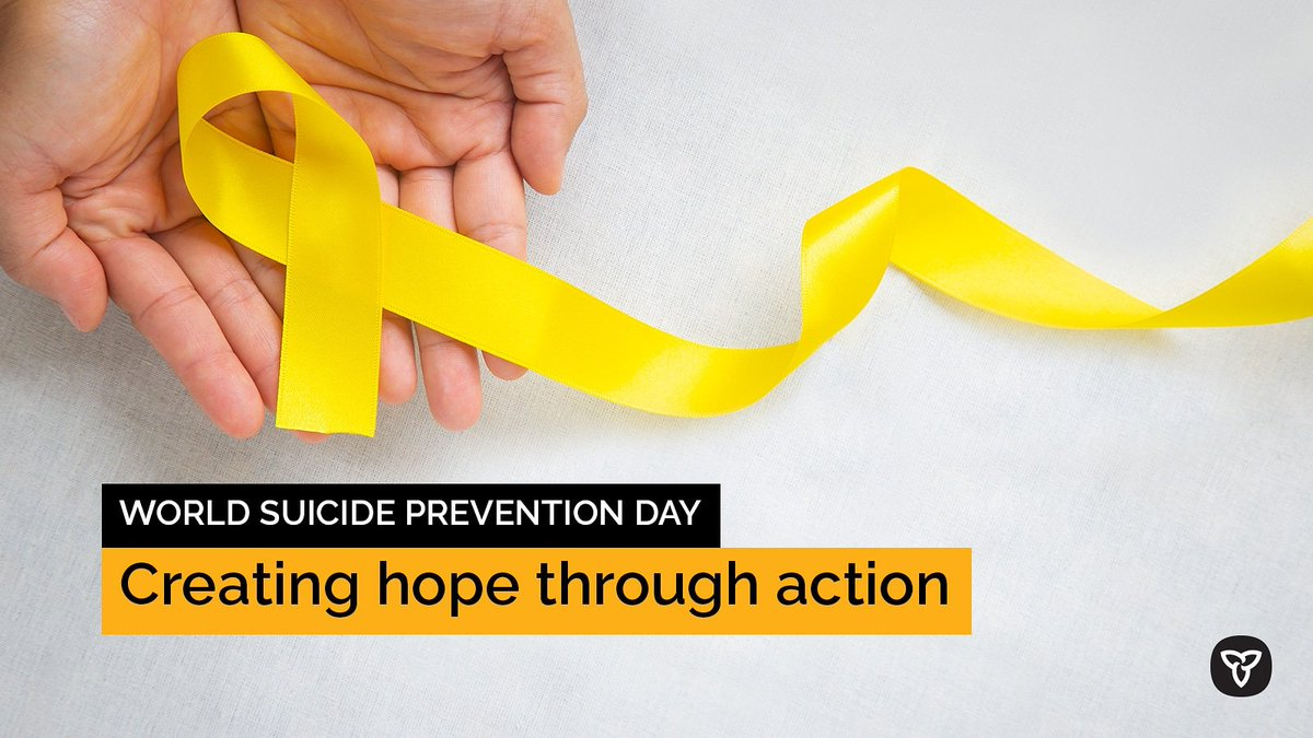 Today is #WorldSuicidePreventionDay.We know it's a difficult topic to bring up. If you or someone you know is struggling, it's important to reach out for support. Talking about #suicide can help prevent it.ontario.ca/mentalhealth #WSPD2021 #WSPD