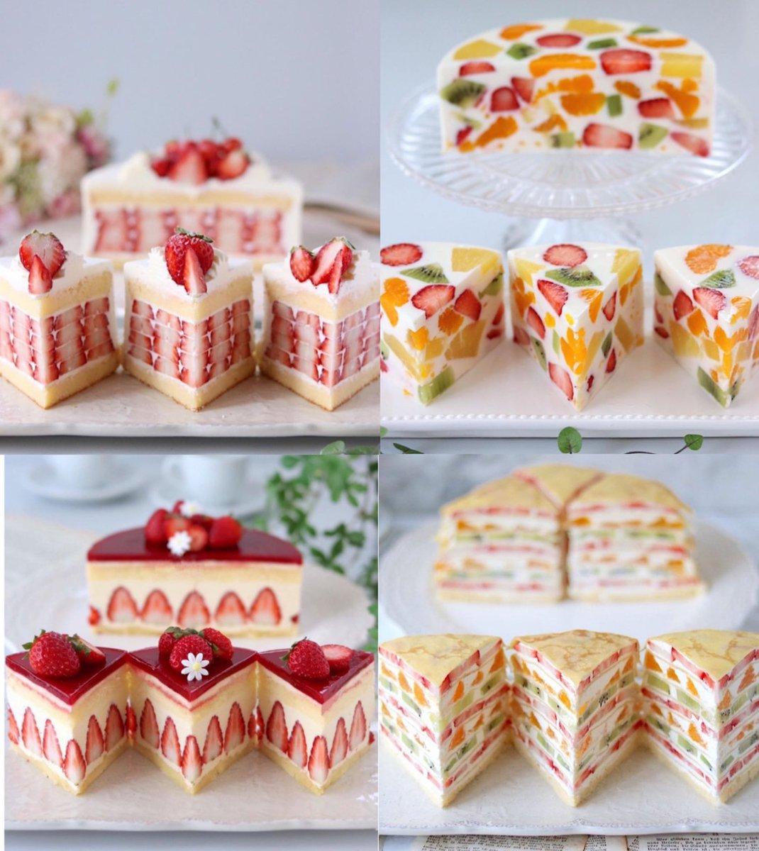 見た目に綺麗でカワイイ!?カットしても美しいケーキたち!