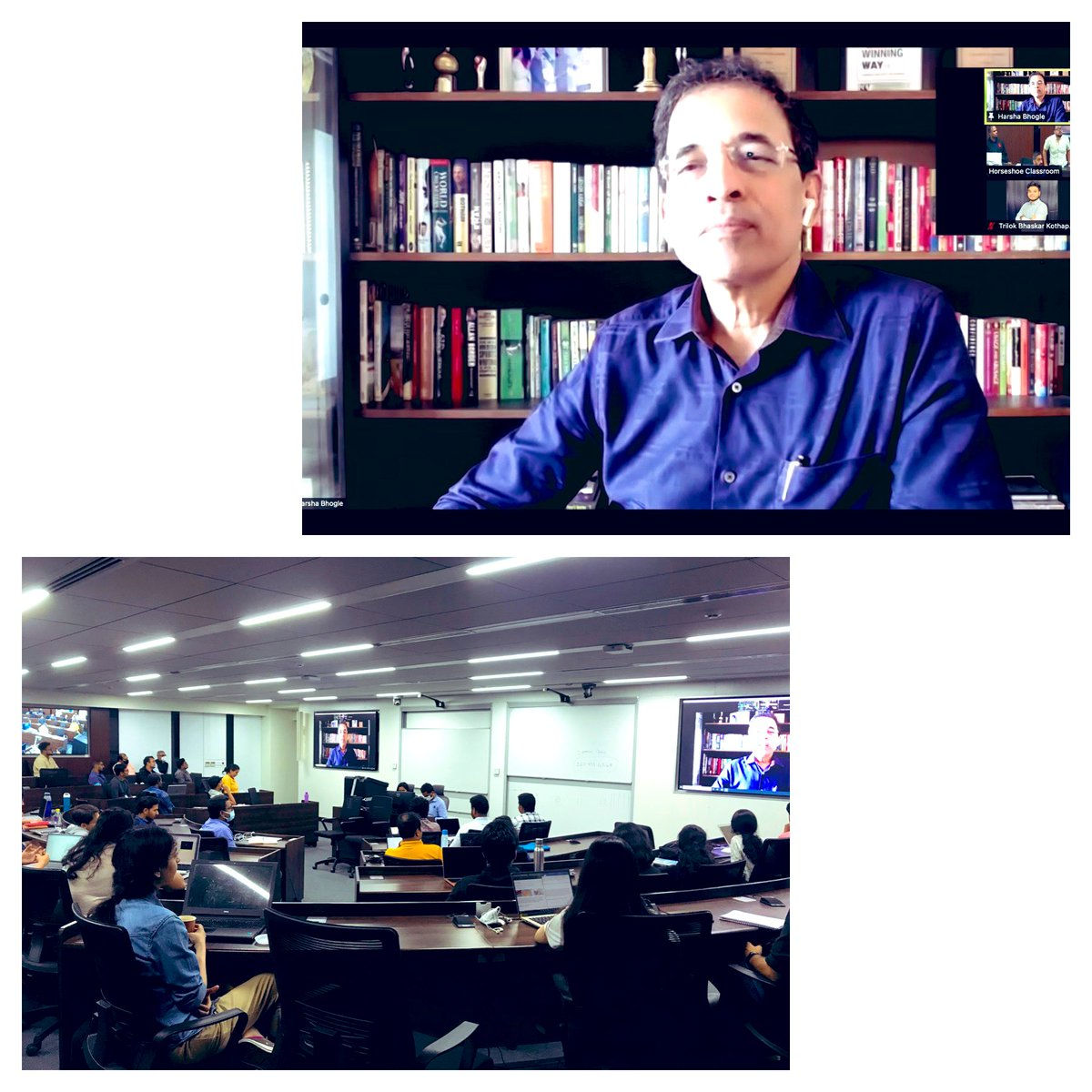 Studying Public Policy in India inevitably includes understanding cricket… Where there is cricket, there is @bhogleharsha of course…