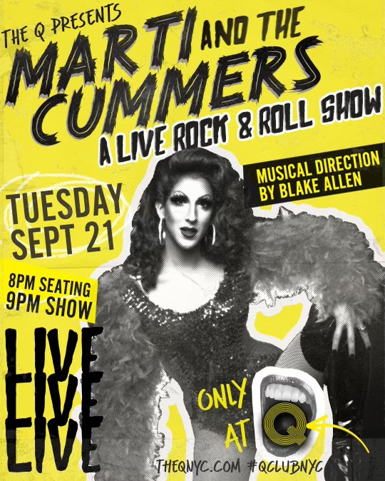 My next rock concert is Sept 21st at 9pm (doors at 8pm) with guest @lisarameymusic Tix on sale now —-> Martiandthecummers.eventbrite.com