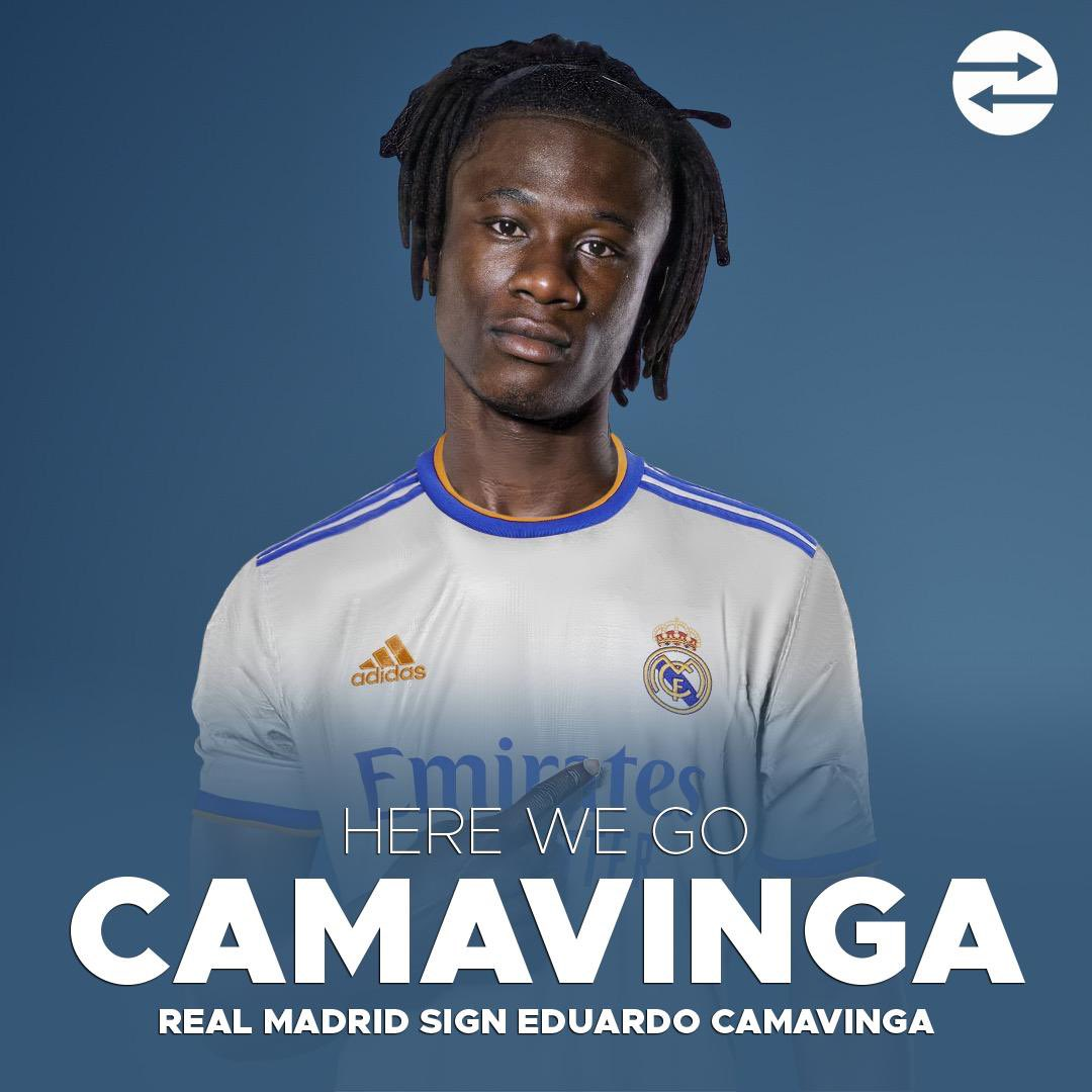 """Fabrizio Romano on Twitter: """"Eduardo Camavinga to Real Madrid: HERE WE GO!  The offer has been accepted tonight by Rennes. €31m plus add ons. Medical  already completed tonight. ⚪️🚨 #DeadlineDay Paperworks are"""