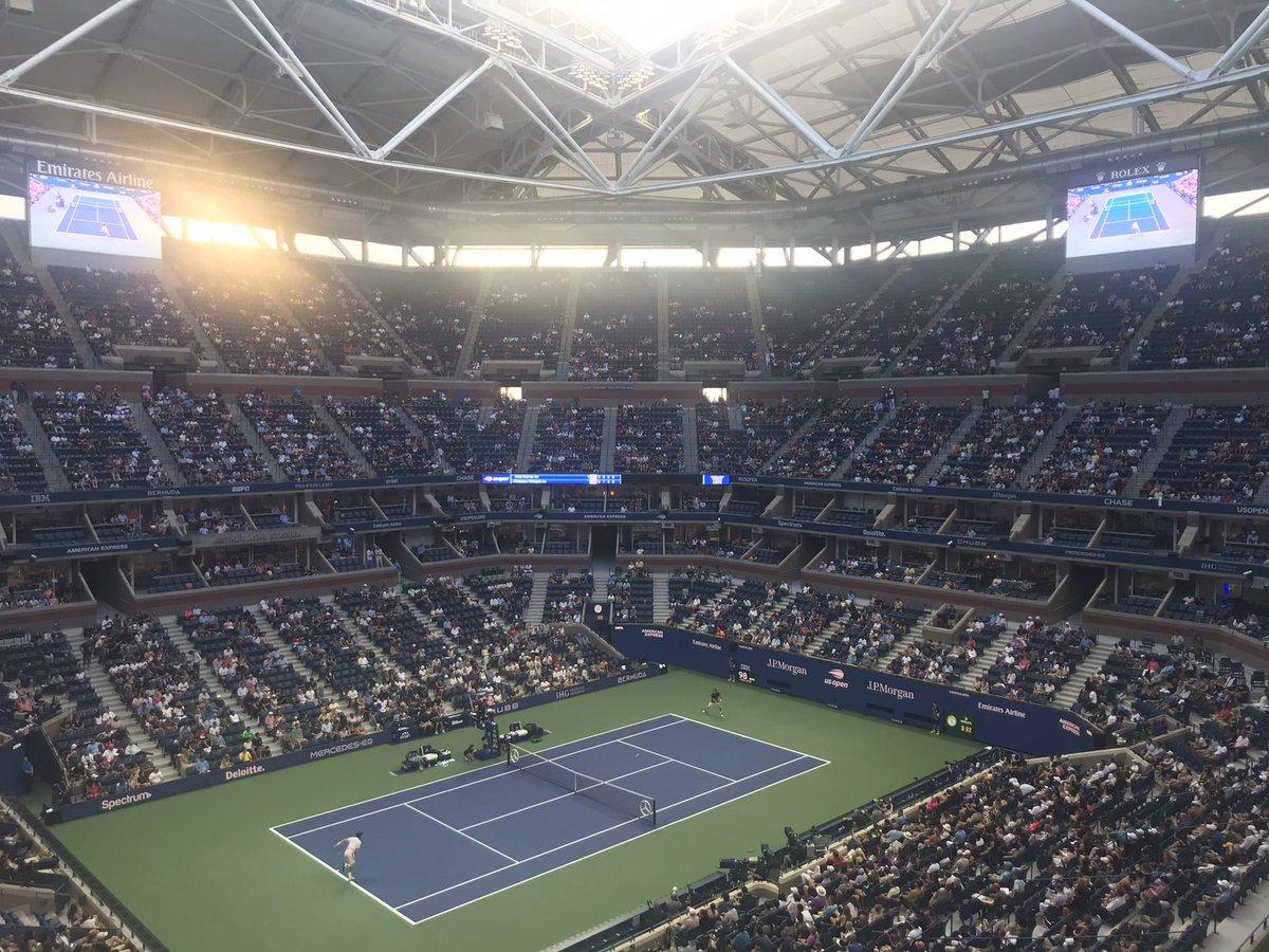 Ölmeden önce yapılacaklar listesinden bir şeyi daha eksilttik #USOpen #abdaçık #GrandSlam #tennis #murraytsitsipas