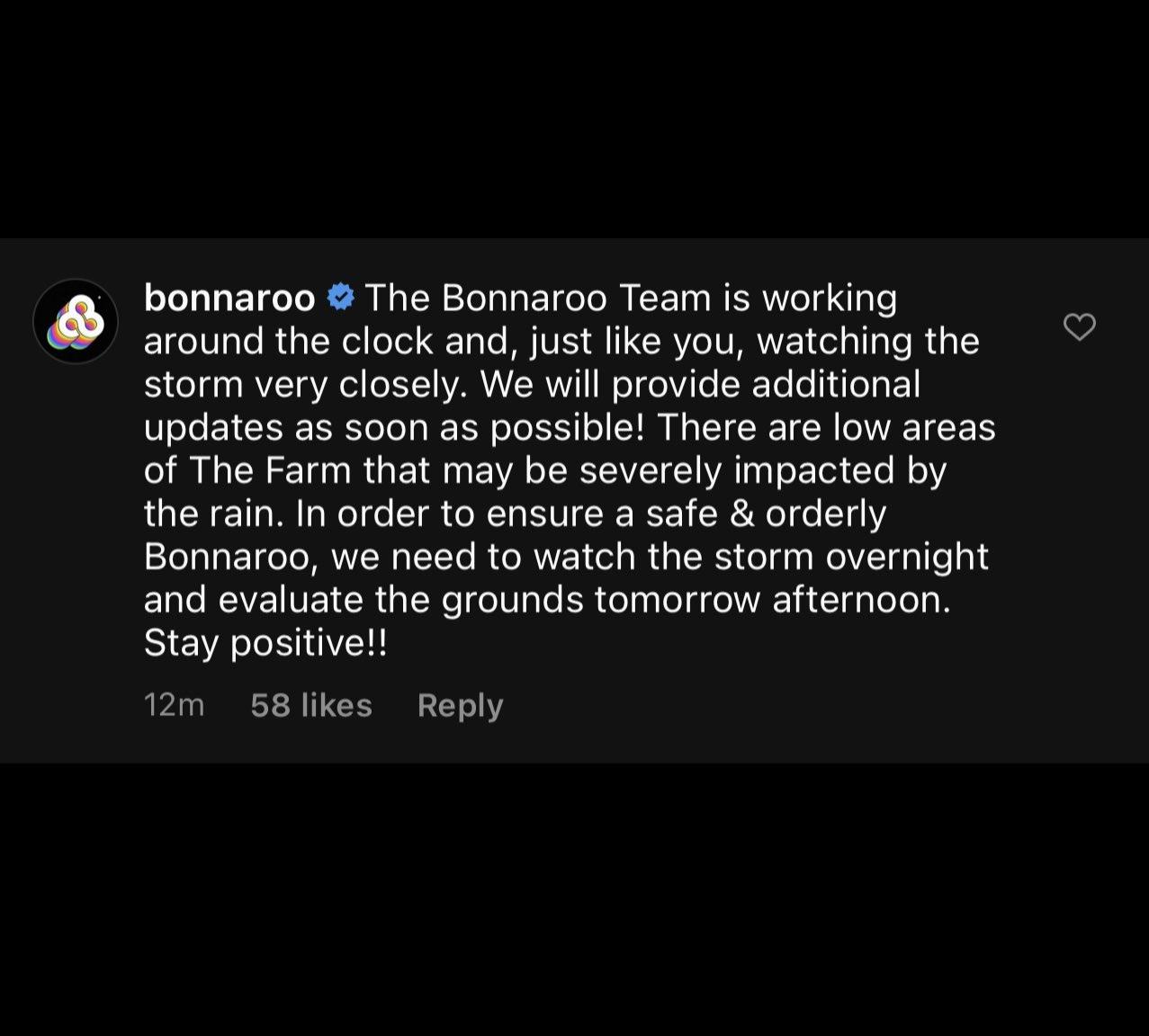 Bonnaroo update