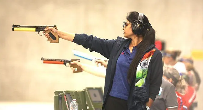 India's Rubina Francis qualifies for the 10m Air Pistol SH1 final at the Tokyo Paralympics