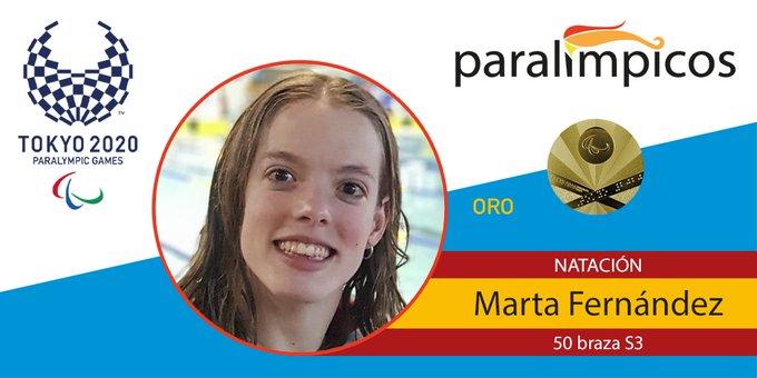 Creatividad con foto de Marta y la medalla de oro