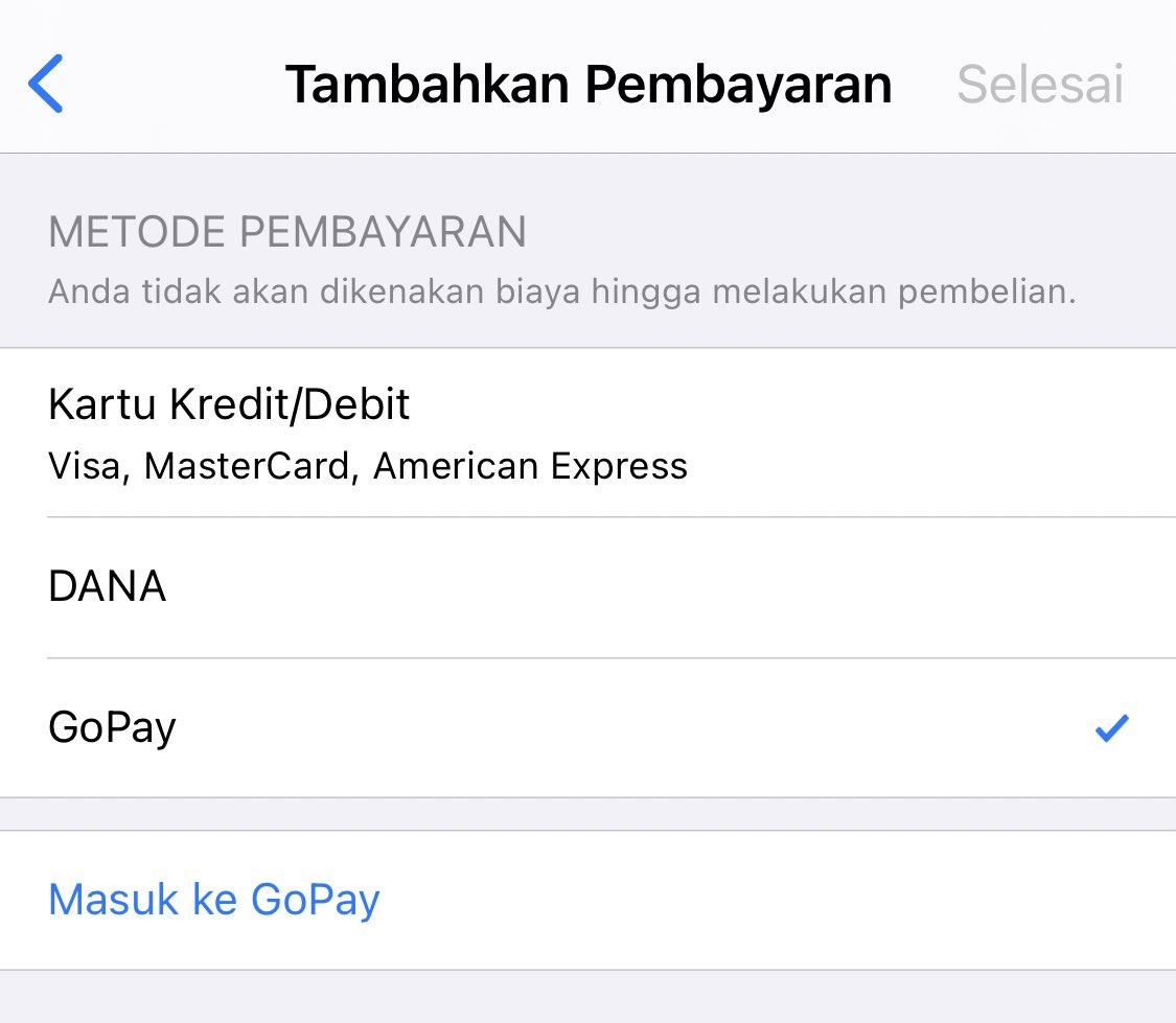 GoPay Resmi Jadi Metode Pembayaran di Apps Store