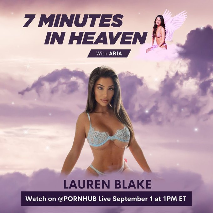 """Tune in tomorrow for my """"7 Minutes In Heaven"""" with Lauren Blake on Pornhub's Instagram Live at 1pm https://t"""