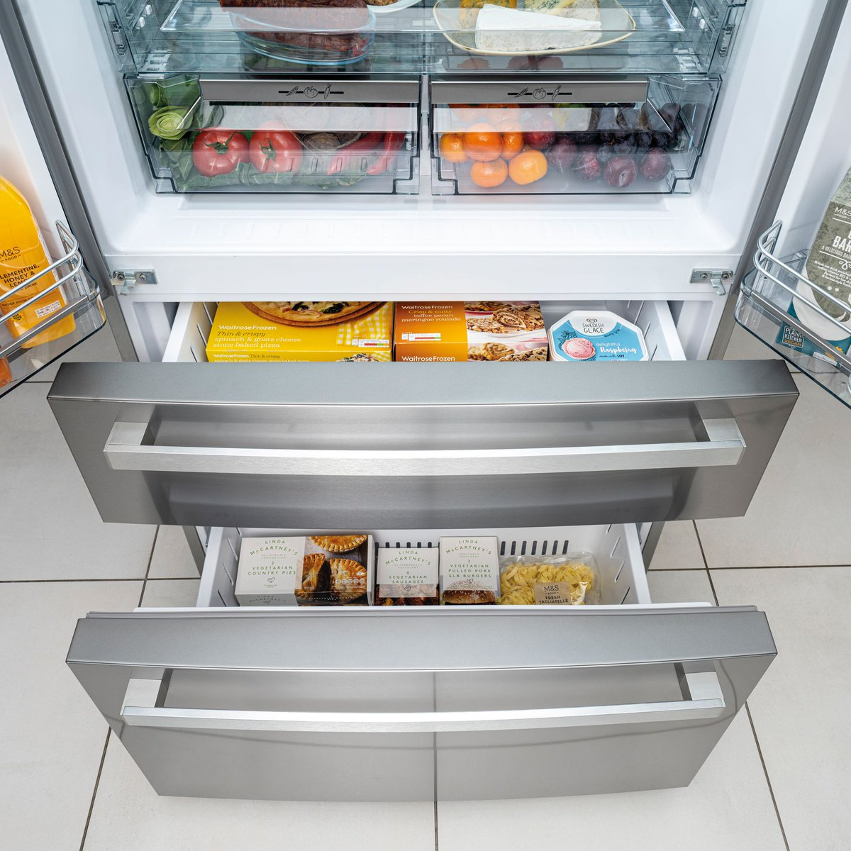What do you think of our new french door fridge-freezer?😍 With an effortless white LED touch control display, the beautiful CAFF42 features super freeze & super cool functions, as well as Frost-free technology! See More: buff.ly/3mFxjup #CapleQuality #Refrigeration