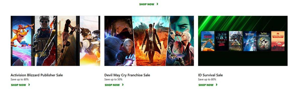 Weekly Xbox Game Sales via Xbox.