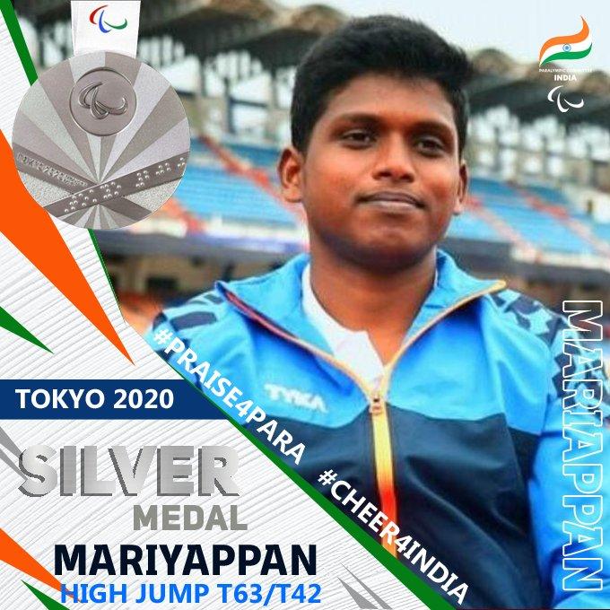 प्रधानमंत्री मोदी ने पैरालंपिक खेलों में ऊंची कूद में मरियप्पन थंगावेलु को रजत पदक और शरद कुमार को कांस्य पदक जीतने पर बधाई दी