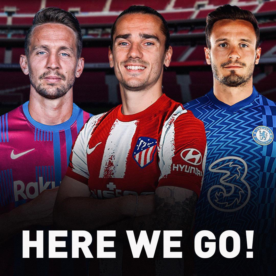 """Fabrizio Romano on Twitter: """"Official. Completed and after the final drama.  🚨🏁 #DeadlineDay Antoine Griezmann joins Atletico Madrid. Luuk de Jong  joins Barcelona. Saúl Niguez joins Chelsea. Craziest transfer market ever is"""
