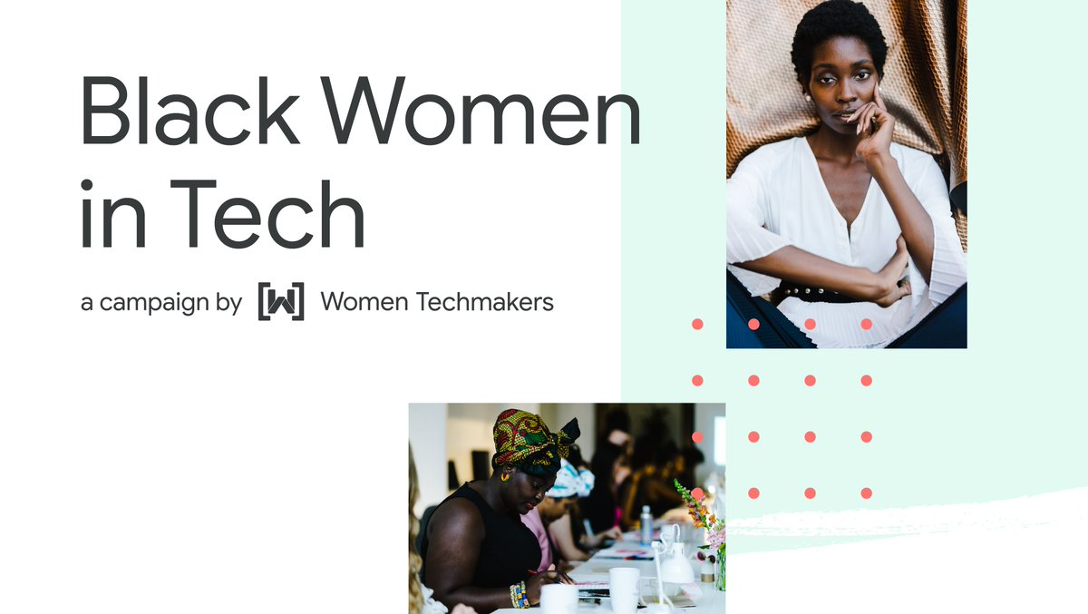 Black women are changing the world of tech. Hear their stories → goo.gle/3sZeYJG #WomenTechmakers is proud to announce the launch of our new campaign highlighting the personal experiences and journeys of Black women and what it means to be Black in tech. Be inspired.✨