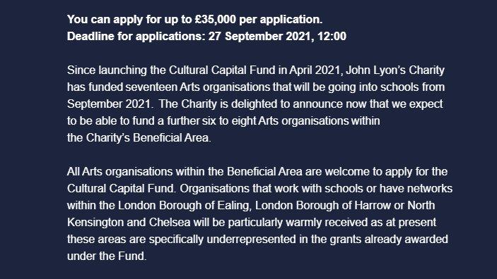 CALLING ALL ARTS ORGANISATIONS 🎭 👇👇👇 jlc.london/grants/our-gra…