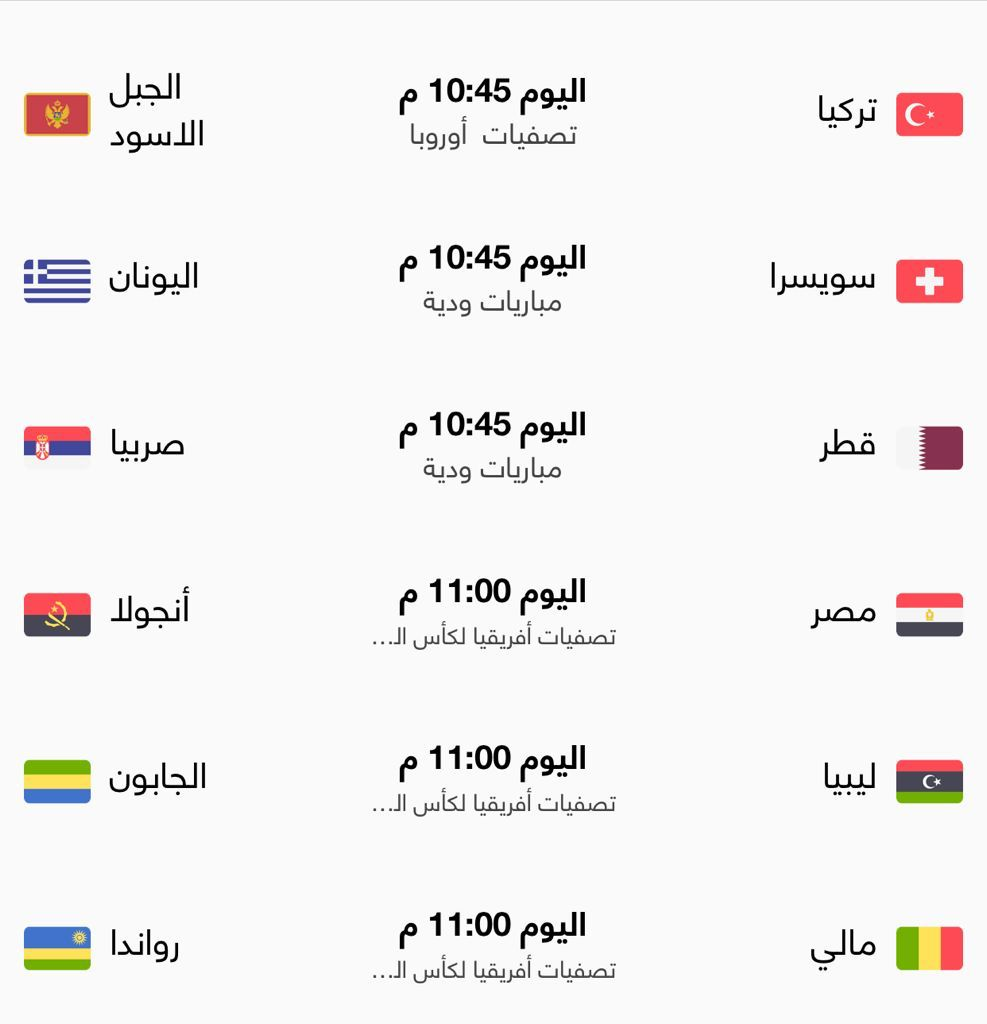 أبرز المباريات العربية والعالمية اليوم الأربعاء 1/9/2021