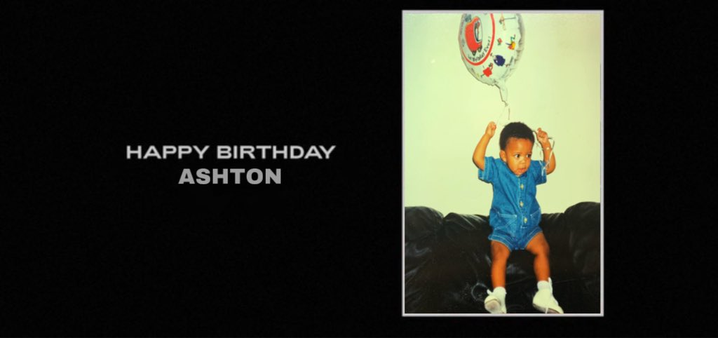 Beyoncé wishes Ashton a Happy 26th Birthday.