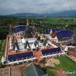 Image for the Tweet beginning: #VirtualThailand: Drone photos of Wat
