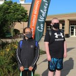 Image for the Tweet beginning: Two @timberridge202 students arrived at