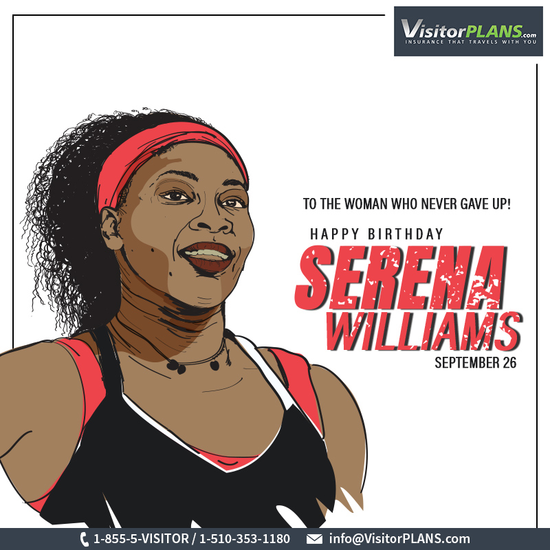 Wishing the winner of 23 #grandslams a rocking #birthday! May you achieve more than you desire.  #HappyBirthday #SerenaWilliams #VisitorPLANS