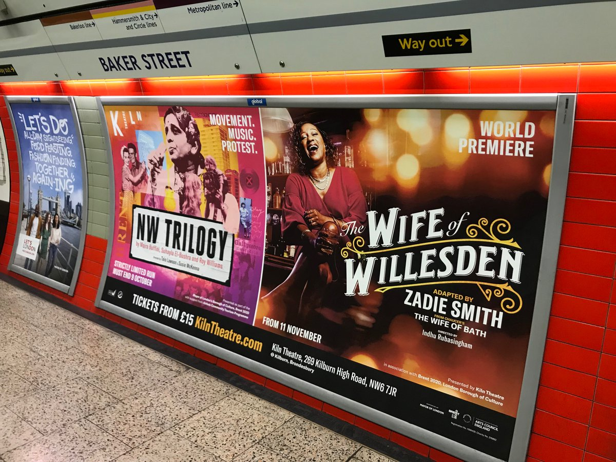 So excited to see these on the tube today. Two amazing shows coming right up @KilnTheatre 🙌🏼