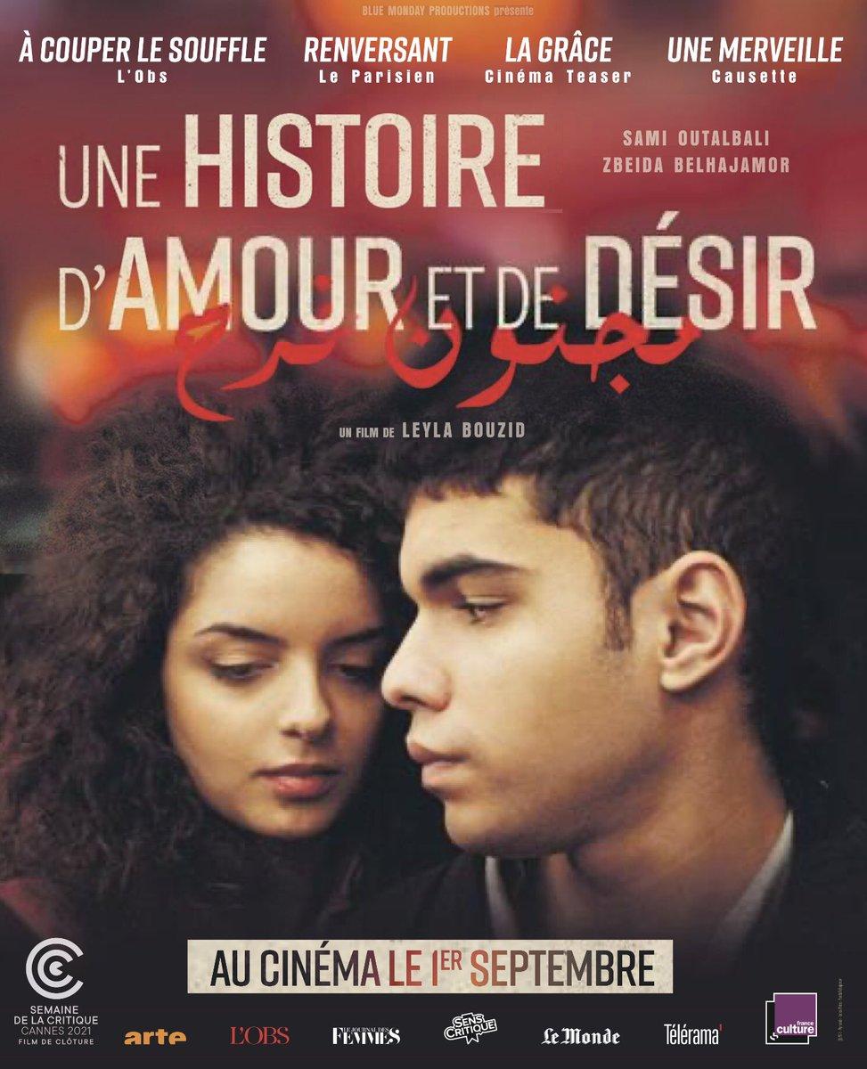 """Destination Ciné on Twitter: """"Film de clôture de la Semaine de la Critique  #Cannes2021 et Prix du meilleur film au Festival d'Angoulême, UNE HISTOIRE D 'AMOUR ET DE DÉSIR a attiré hier... 2"""