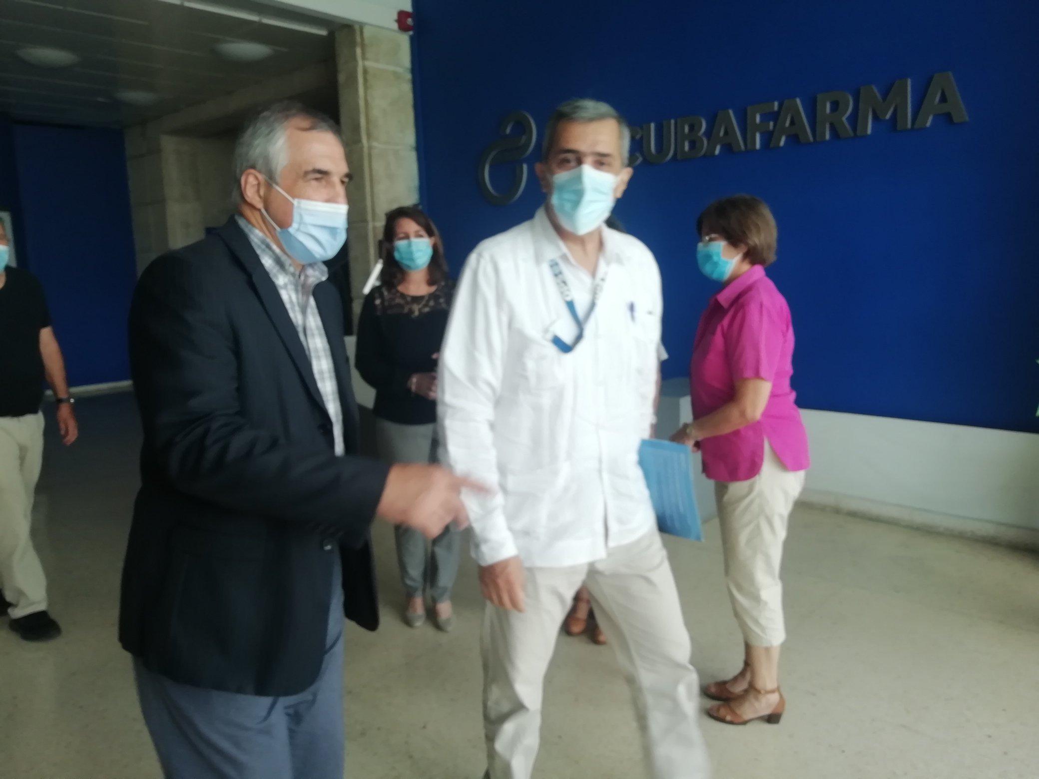 Presidencia de BioCubaFarma intercambia con representante de la OPS/OMS en el país