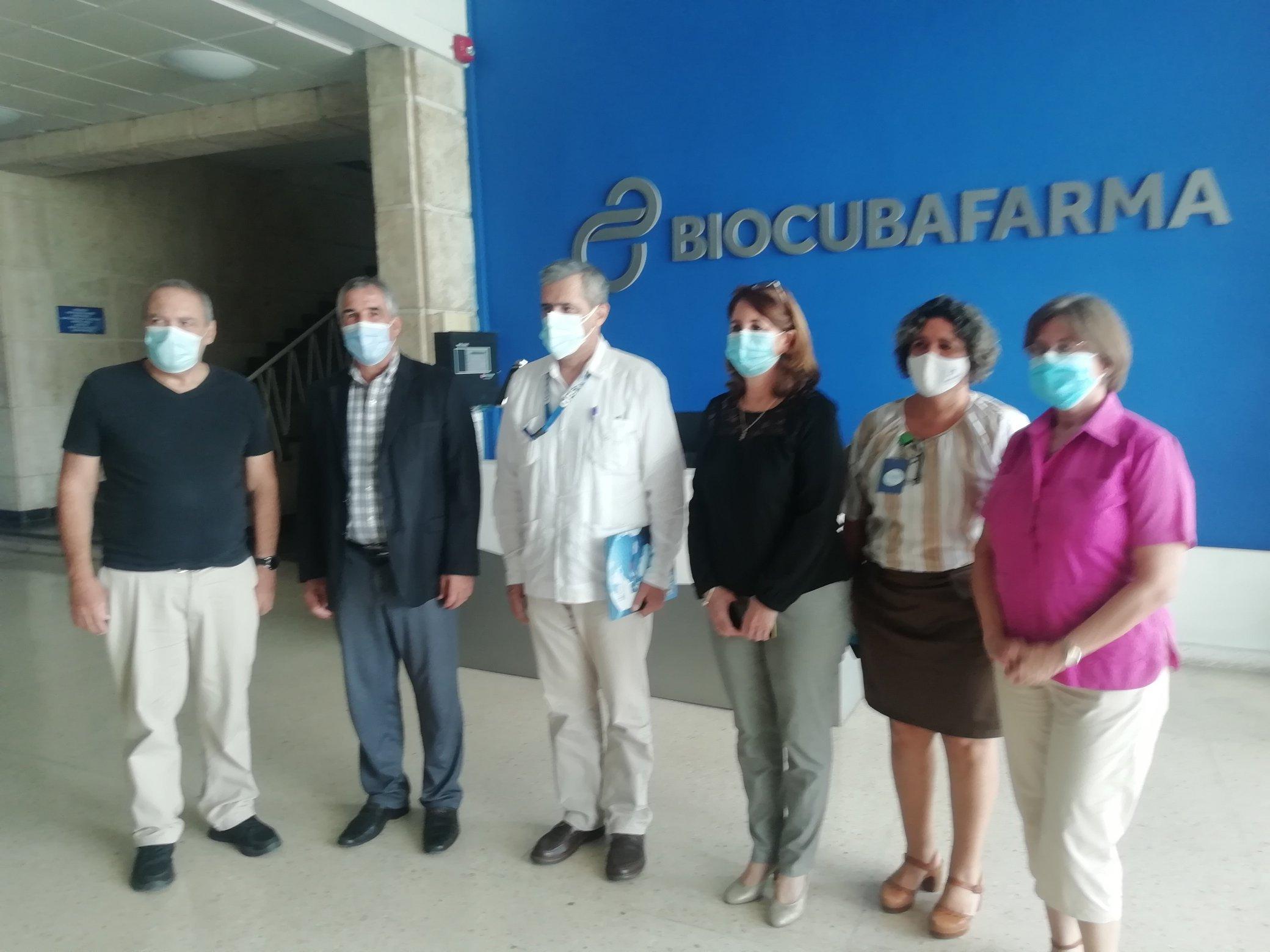 Sesionó en BioCubaFarma reunión con representante de la OPS/OMS en Cuba