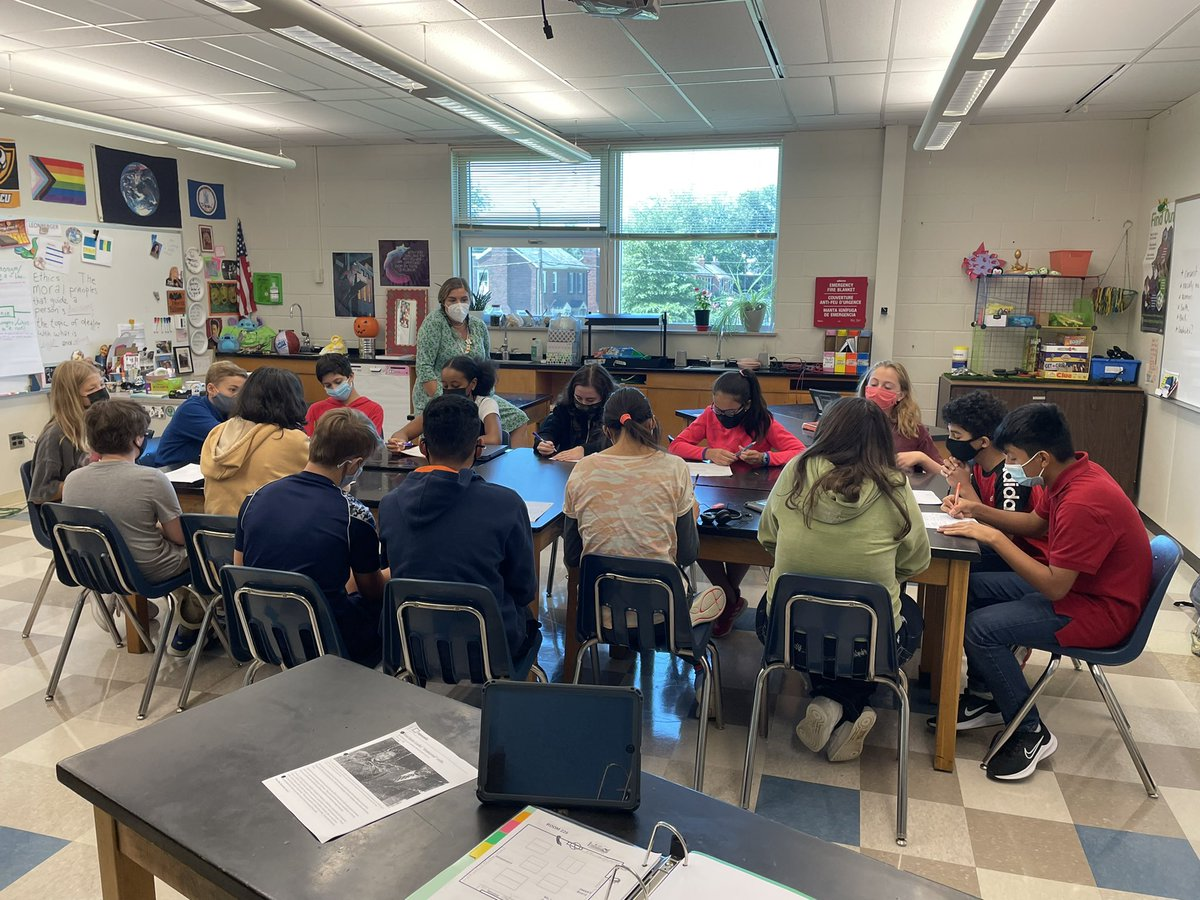 Kids haven't spoken to each other in forever! So <a target='_blank' href='http://twitter.com/LeonbergerTJMS'>@LeonbergerTJMS</a> decided to hit 'em with a Socratic Seminar right out of the gate. Science, Ethics, the story Henrietta Lacks and some awkward silences. Gotta love middle school 👍<a target='_blank' href='http://search.twitter.com/search?q=tjmsrocks'><a target='_blank' href='https://twitter.com/hashtag/tjmsrocks?src=hash'>#tjmsrocks</a></a> <a target='_blank' href='http://twitter.com/APSGifted'>@APSGifted</a> <a target='_blank' href='http://twitter.com/JeffersonIBMYP'>@JeffersonIBMYP</a> <a target='_blank' href='https://t.co/FH3TkZ74Qw'>https://t.co/FH3TkZ74Qw</a>