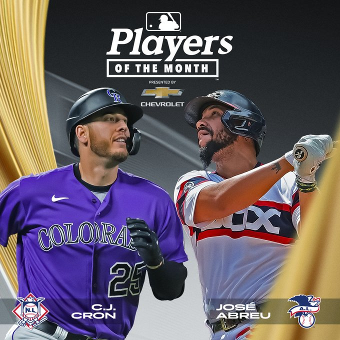LAST MINUTE: José Abreu was selected the Player of the Month in the American League