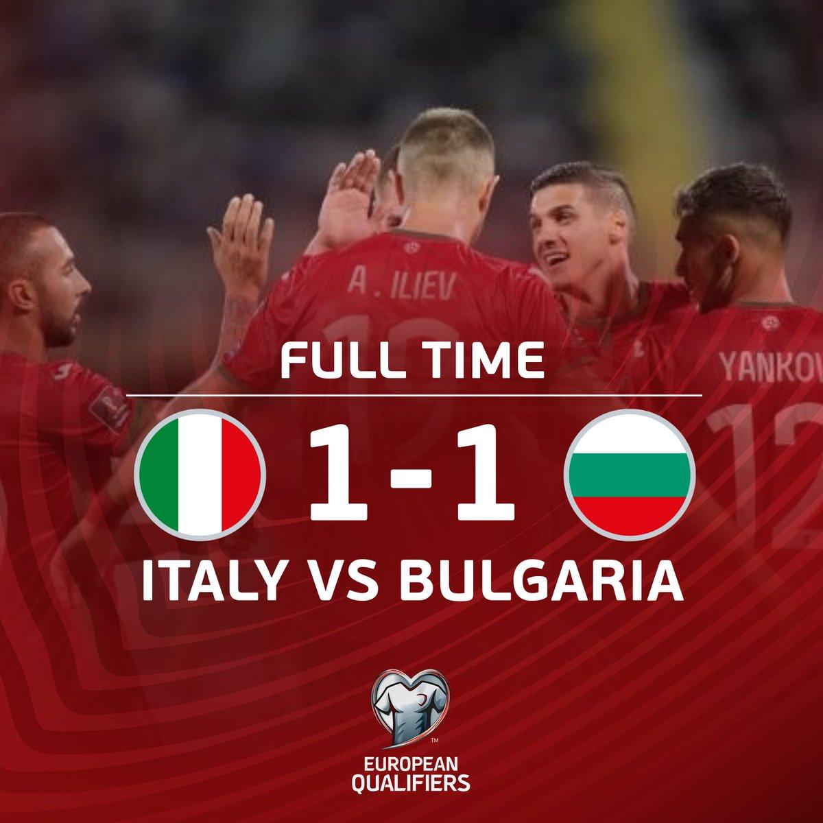 "Team Bulgaria on Twitter: ""Italy - Bulgaria 1:1!!!🇧🇬… """