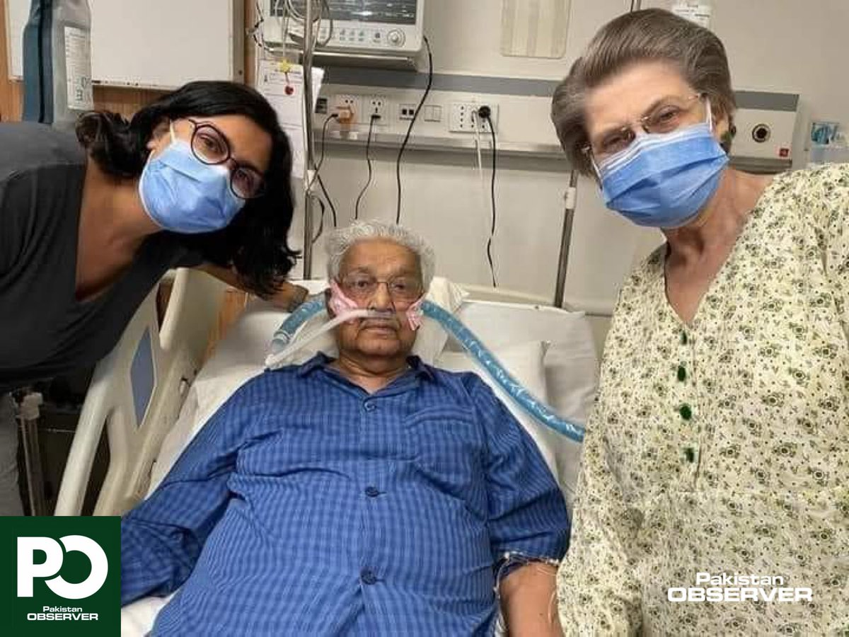 """Pakistan Observer on Twitter: """"Exclusive: Latest picture of Dr Abdul Qadeer Khan ( A Q Khan) with his wife and daughter, seemingly in a better condition. Family has requested for prayers. Pakistan's"""