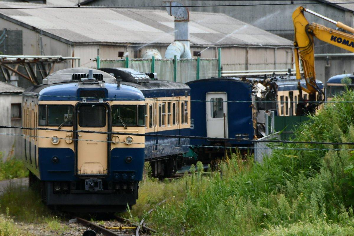 【さよならスカ色】しなの鉄道115系S16編成・S26編成 長野で廃車・解体が始まる