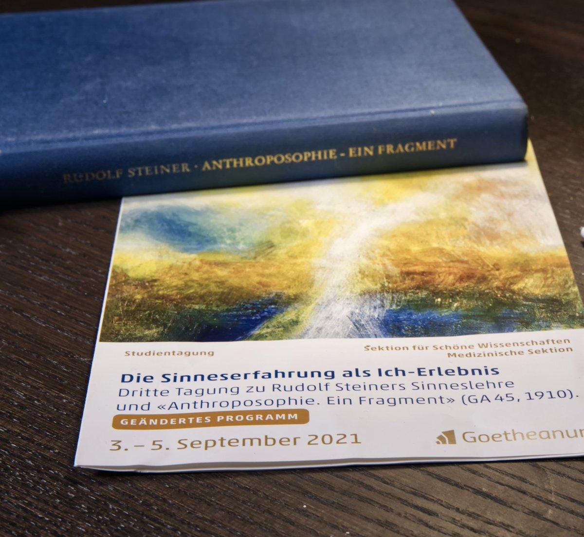Heute beginnt die Tagung der Sektion für Schöne Wissenschaften: Die Sinneserfahrung als Ich-Erlebnis Zu Rudolf Steiners Sinneslehre und «Anthroposophie. Ein Fragment»  Anmeldung und Programm: https://t.co/ZOkyU2dKUX https://t.co/gxAdMrllUk