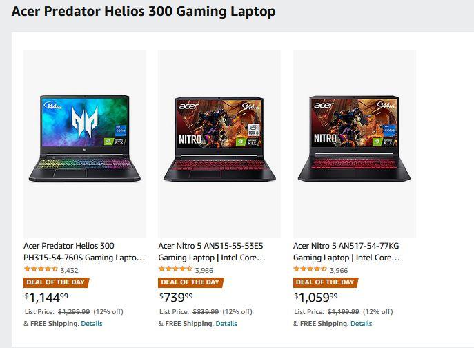 Acer Predator Helios 300 Gaming Laptop Sale via Amazon (Prime Eligible). 8