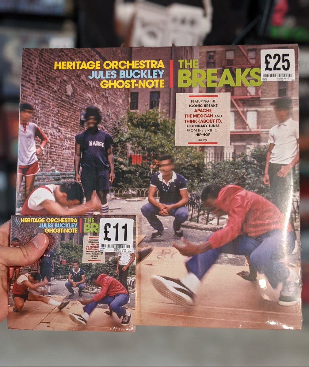 The debut from @julesbuckley #TheBreaks is here! A celebration of the beat-driven music that has influenced the world of scratch DJs & breakdancing since the 70s. Feat much loved tracks from the birth of #hiphop with refreshing new arrangements performed by @HeritageOrc! #fopp