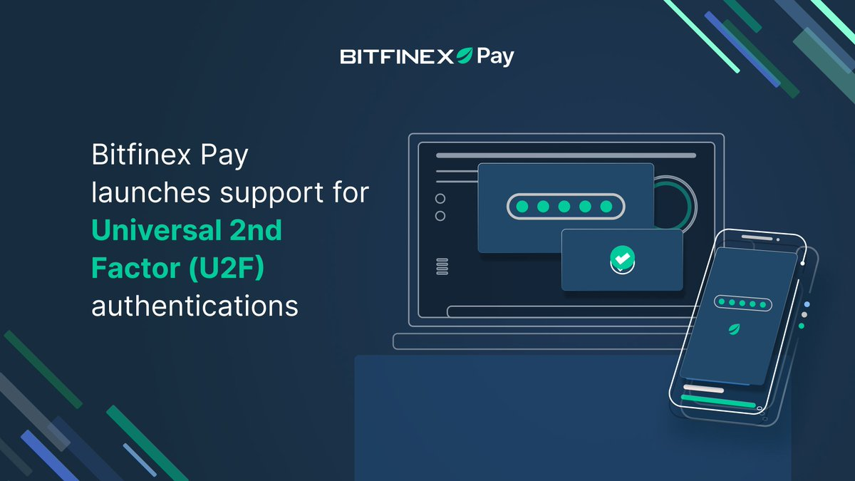 """Bitfinex on Twitter: """"💰 #Bitfinex Pay launches support for Universal 2nd  Factor (U2F) authentication! Users can now verify their digital token  payments in #BitfinexPay with their U2F security key! 🔐 Find out"""