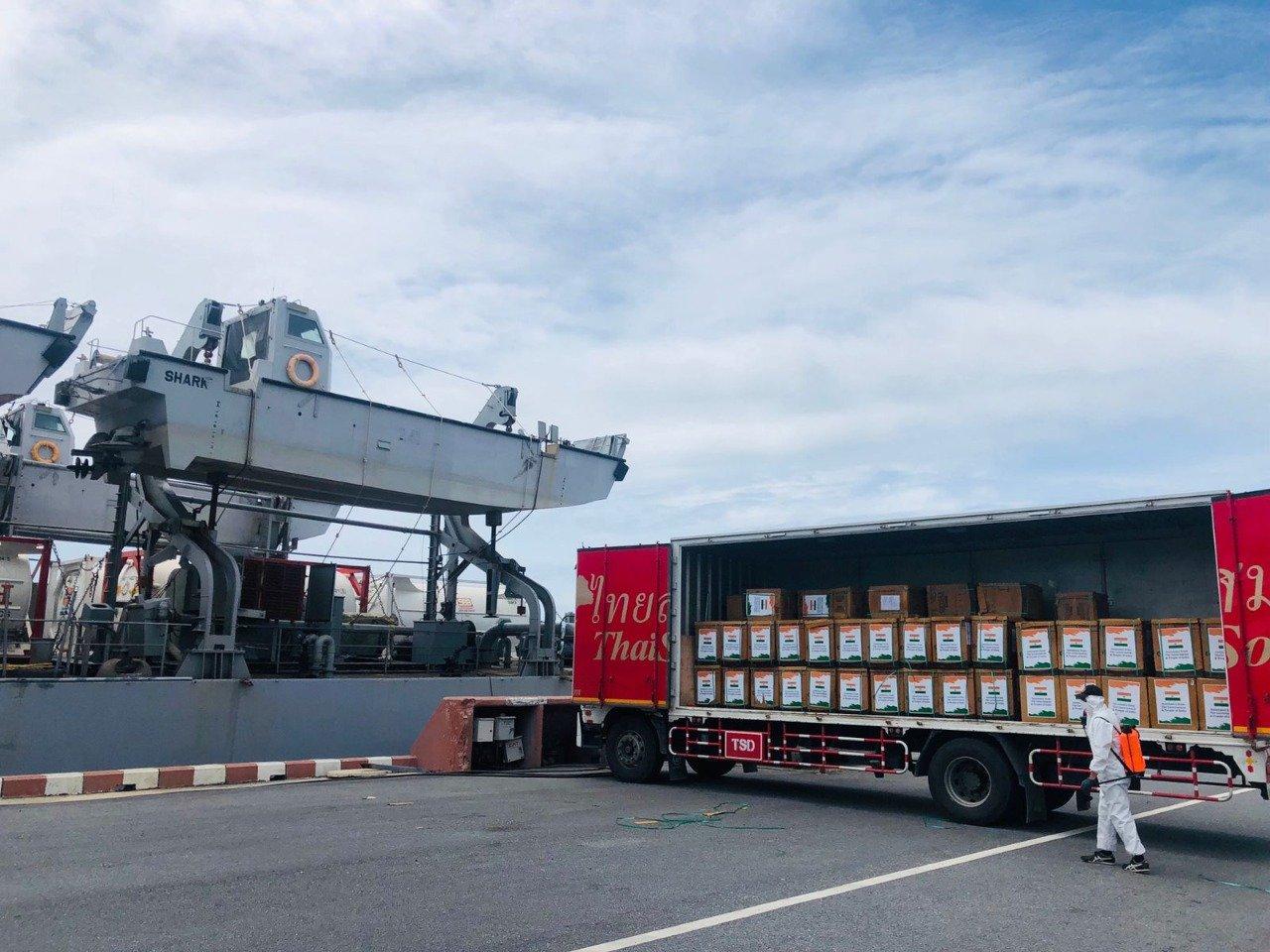 मिशन सागर: आईएनएस ऐरावत कोविड राहत आपूर्ति के साथ थाईलैंड पहुंचा