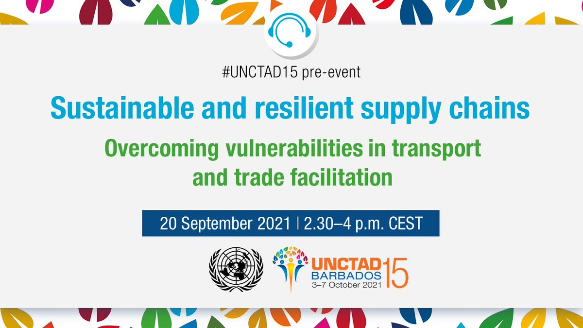 Well-functioning supply chains are essential for economies to grow and societies to thrive.  Join our new secretary-general @RGrynspan for an #UNCTAD15 pre-event on overcoming vulnerabilities in transport and trade facilitation to ensure #ProsperityForAll. bit.ly/2ViOre8