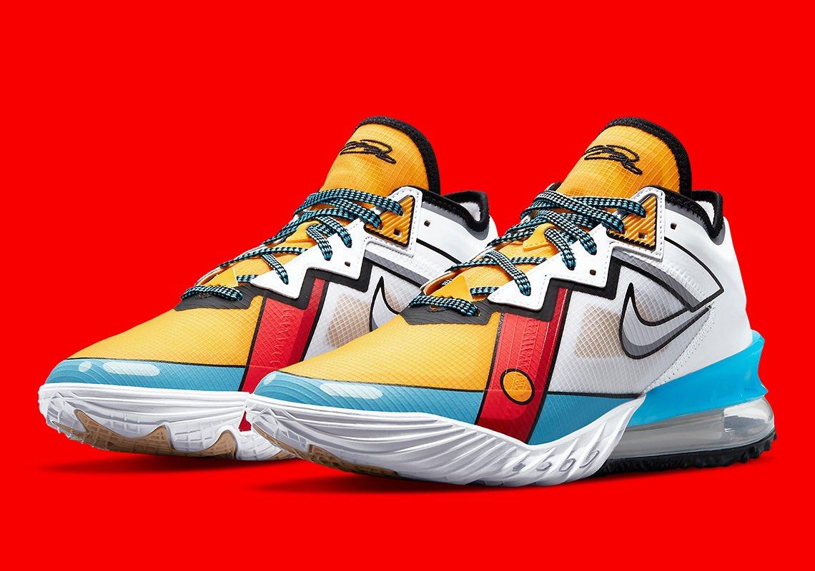 Carting via Foot Locker Nike LeBron 18 Low 'Cartoon Art'  =