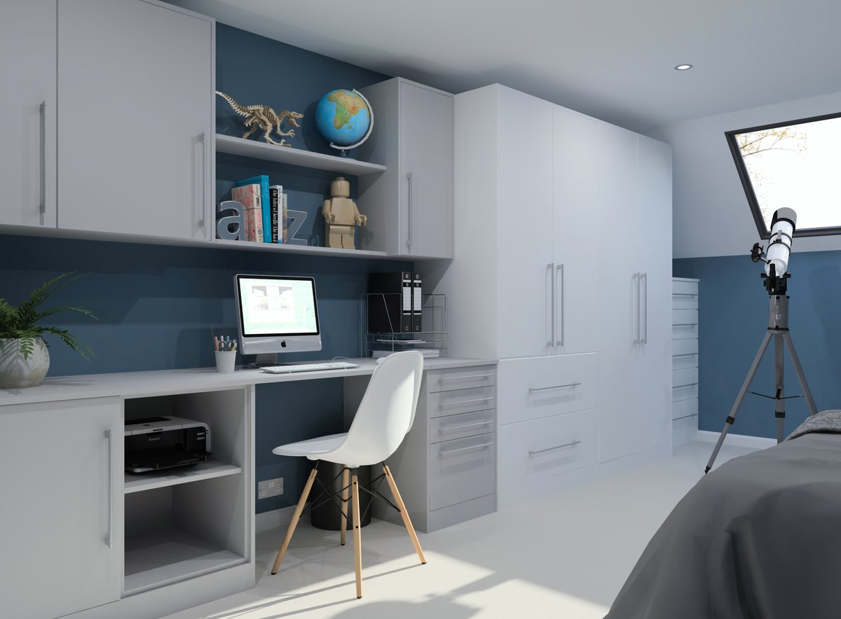 📣 New updates are now available for Crown Imperial kitchens and bedrooms. Head over to the members area to gain access - bit.ly/2WMnqk2 Download them now and start creating designs just like the one below featuring the Locano door in White and Grey Mist #articad