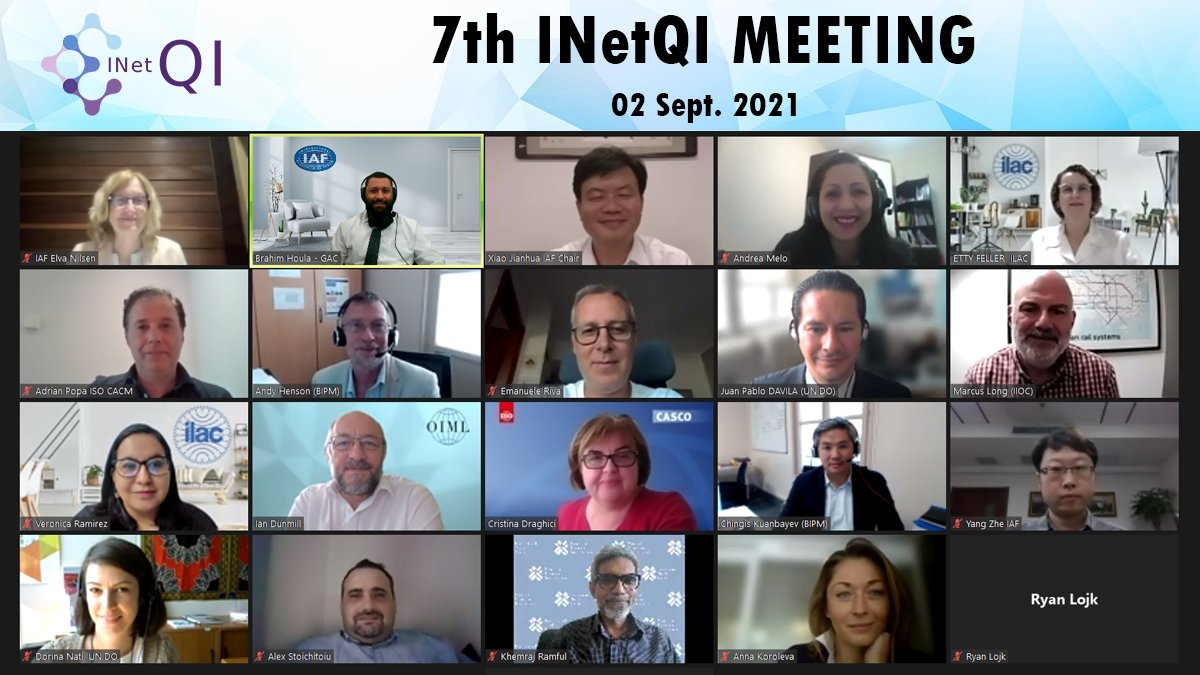 Image for the Tweet beginning: The 7th meeting of INetQI,