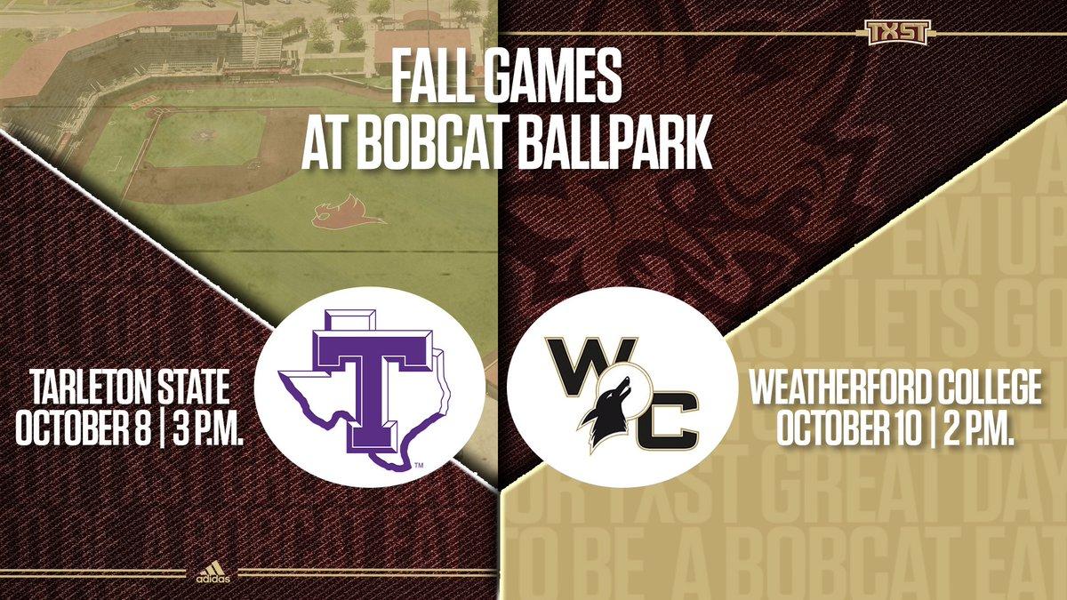 Will be hosting 2 Fall games this October at Bobcat Ballpark #EatEmUp