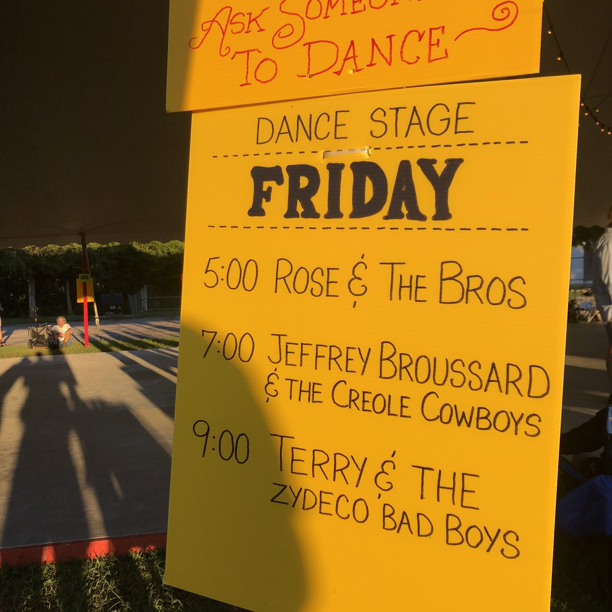 Jeffrey Broussard & the Creole Cowboys up next in Dance Tent
