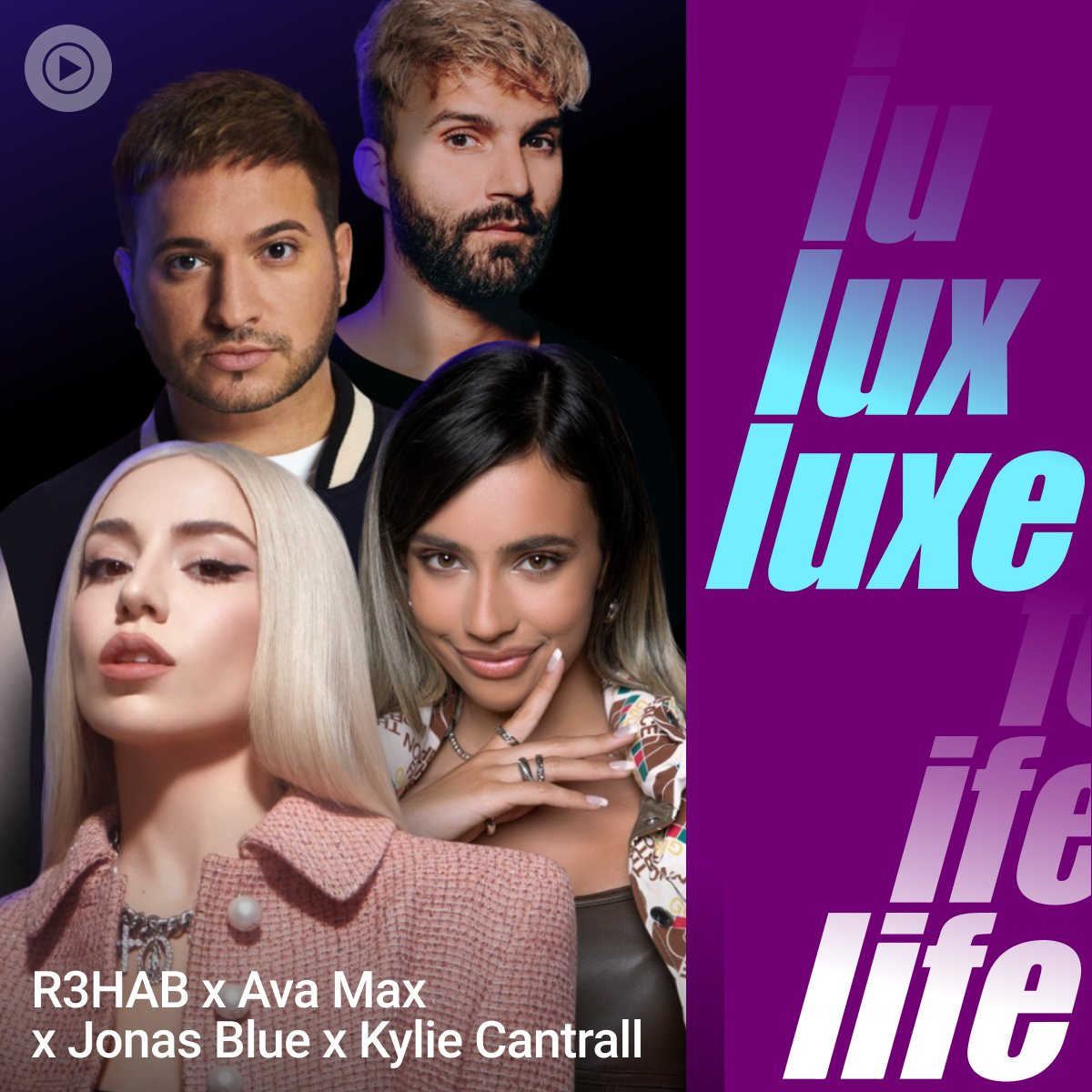 Thank you @YoutubeMusic #LuxeLife💙@AvaMax @R3HAB #KylieCantrall