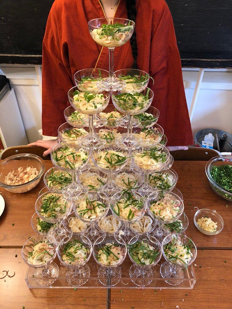 大勢で素麺パーティーできるようになったらやりたい…!シャンパンタワーならぬ素麺タワー!