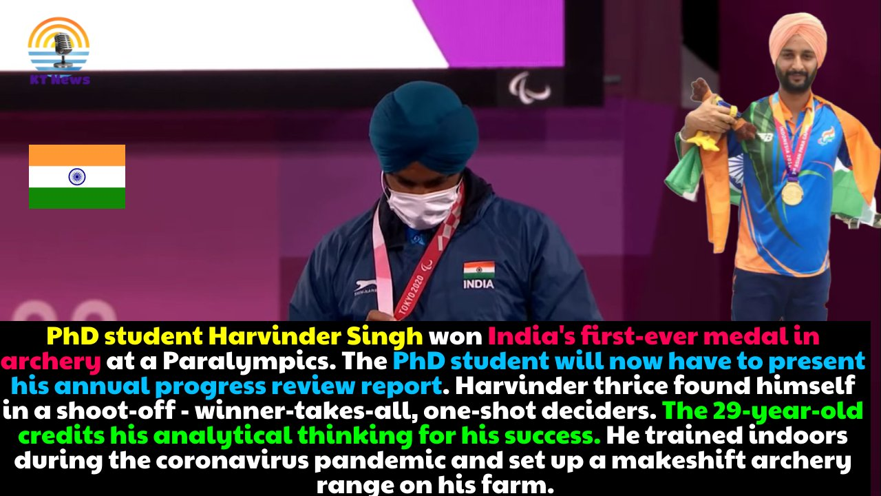 Ph.D. student Harvinder Singh awaits annual progress review after acing three shoot-offs for bronze medal at Tokyo 2020 Paralympics
