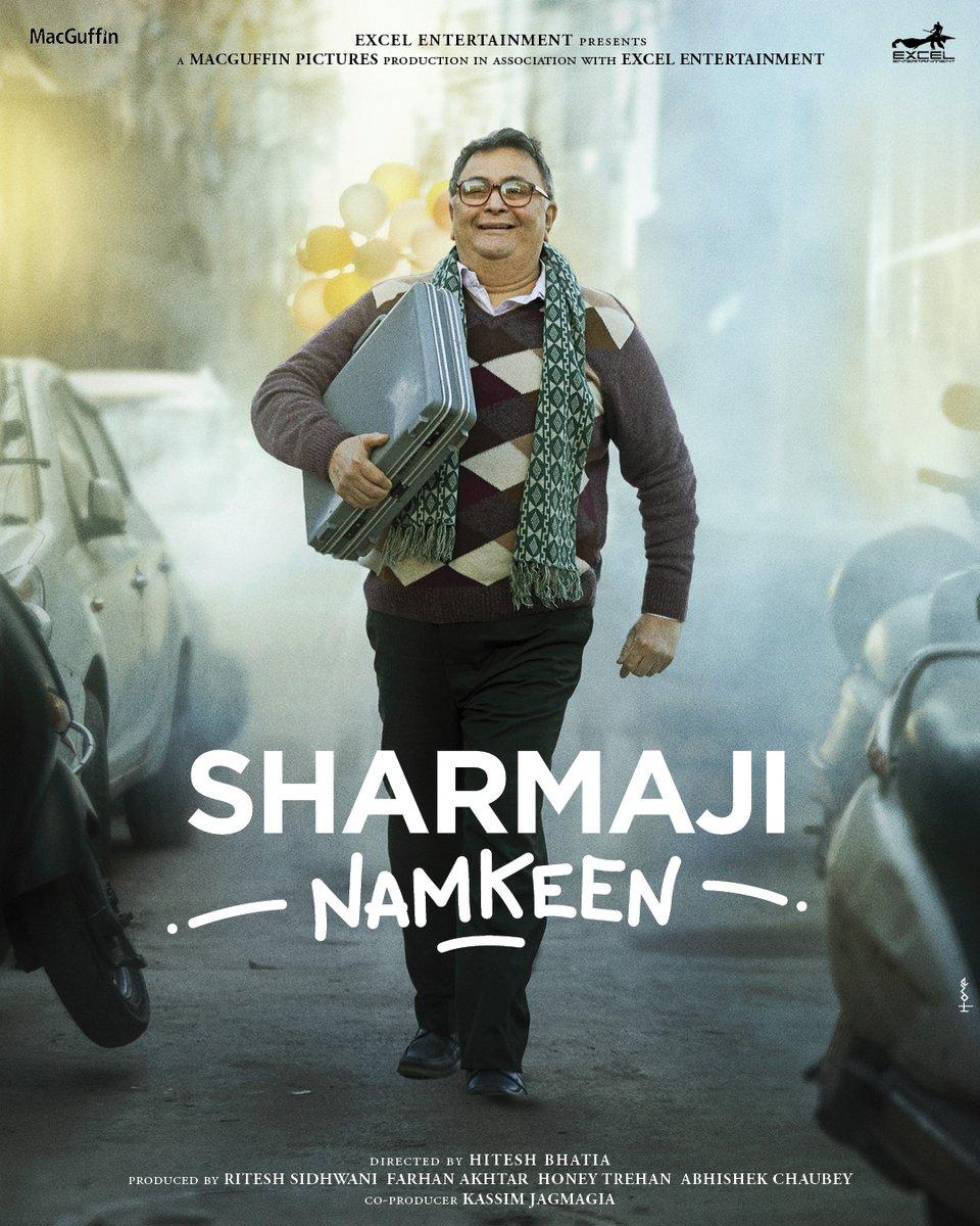We are proud to present, the poster of a very special film - #SharmajiNamkeen  @chintskap @SirPareshRawal @thisisnothitesh @HoneyTrehan #AbhishekChaubey @vishalrr @J10Kassim @ritesh_sid @MacguffinP @excelmovies https://t.co/u3pzGwtPj5