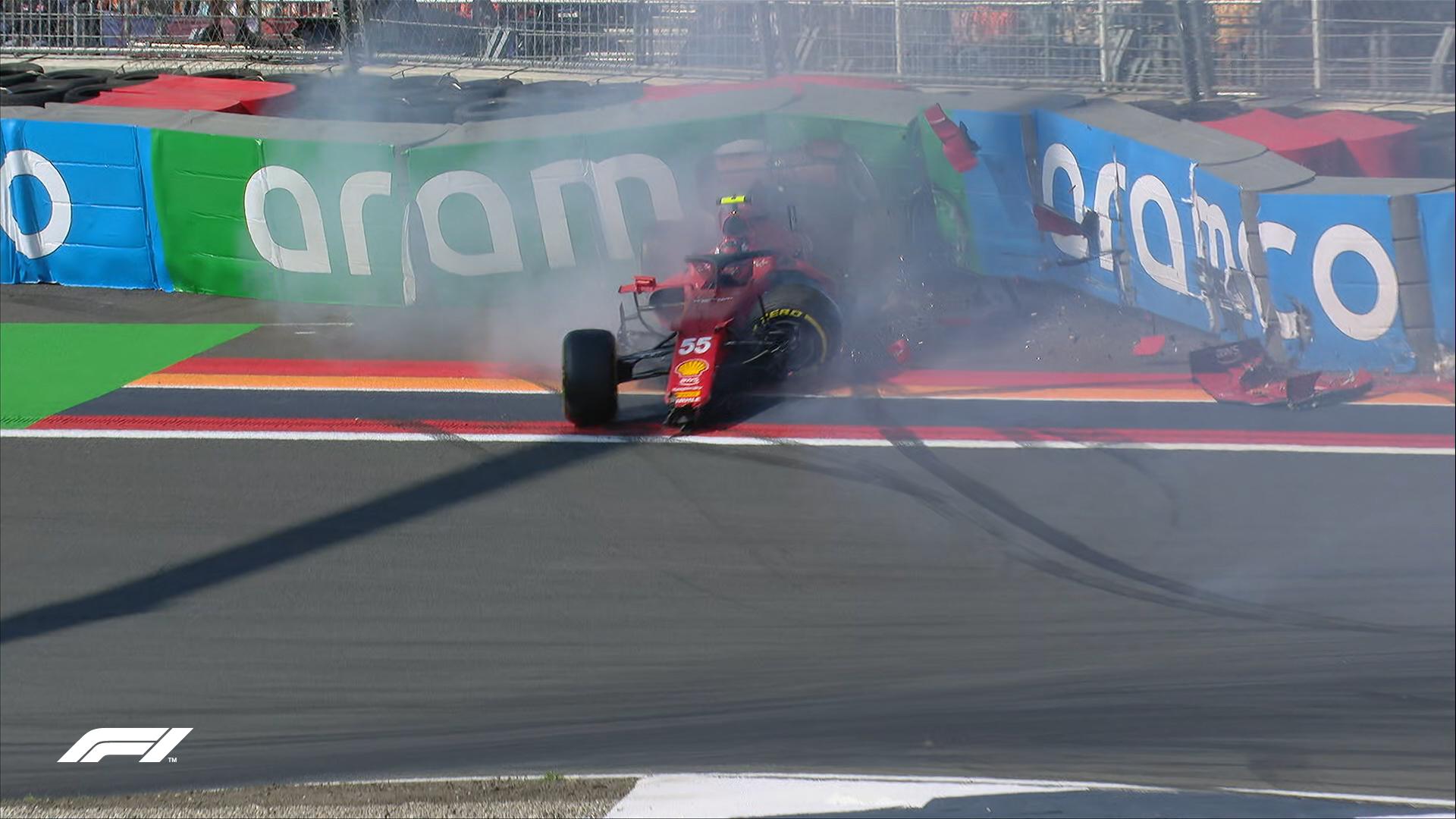 Carlos Sainz rozbija bolid w trakcie FP3 przed GP Holandii