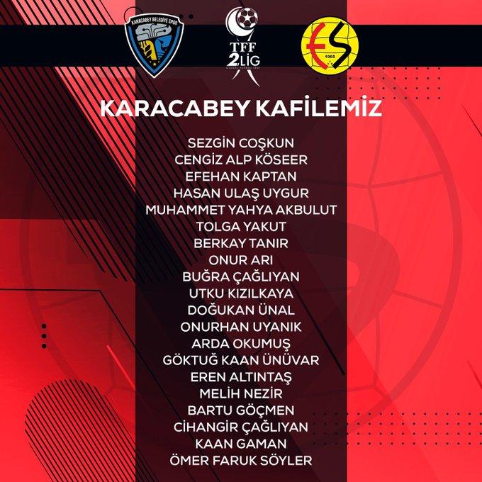 Karacabe maçında bu isimler forma giyecek!