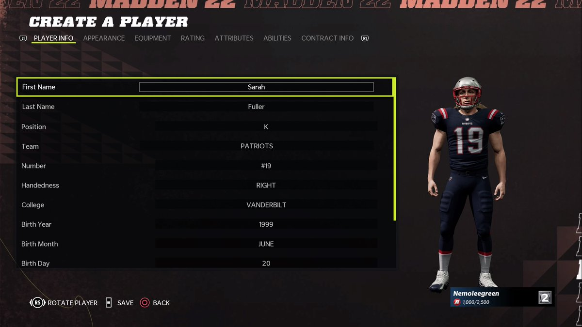 Once I got the game you knew I had to make the GOAT @SarahFuller_27 #PS5Share, #MaddenNFL22